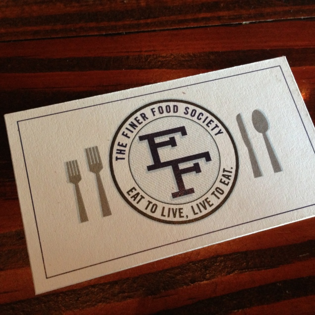 Finer Food Society Member Card