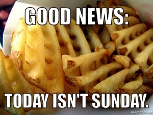 Chick-fil-A Good News Waffle Fries